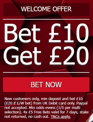 MansionBet Bonus Code Sports bet 10 get 20