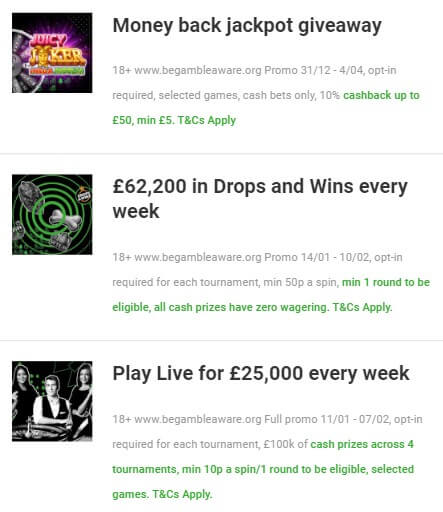 Unibet promos for existing customers